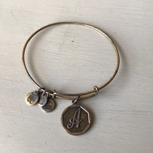 "Alex and Ani ""A"" ""gold"" bracelet"